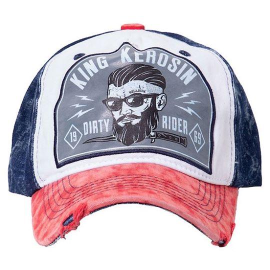 【King Kerosin】【King Kerosin Cap Dirty Rider Red/Blue】 卡車司機帽  | Webike摩托百貨