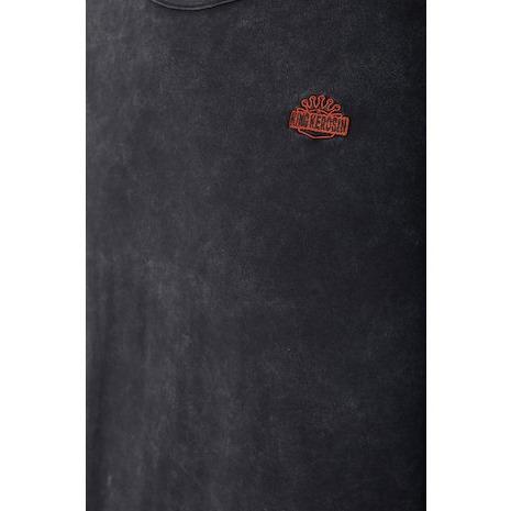 【King Kerosin】【King Kerosin T-Shirt Navy Used-Look Black】T恤| Webike摩托百貨