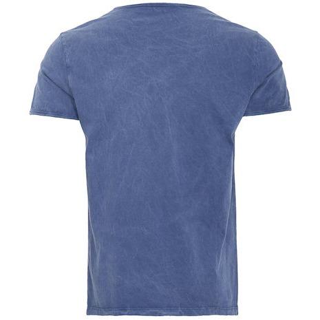 【King Kerosin】【King Kerosin T-Shirt Navy Used-Look Blue】T恤  Webike摩托百貨